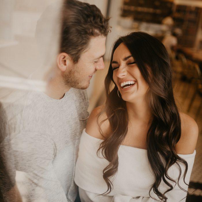 Intimate Coffee Shop Engagement Photos | Colorado Springs Wedding Photographer | Christian & Arden Bevere