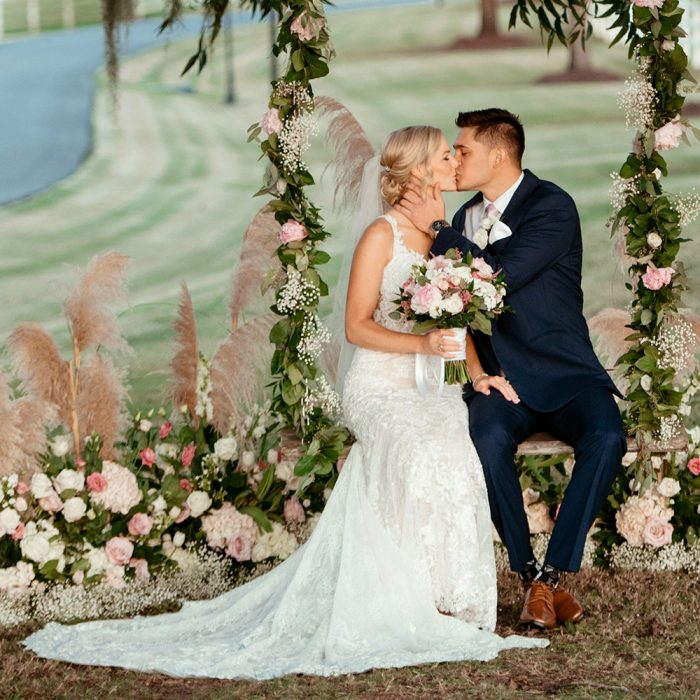 Romantic Blush and Gold Fall Wedding at Briscoe Manor in Richmond, Texas | Houston Wedding and Engagement Photographer