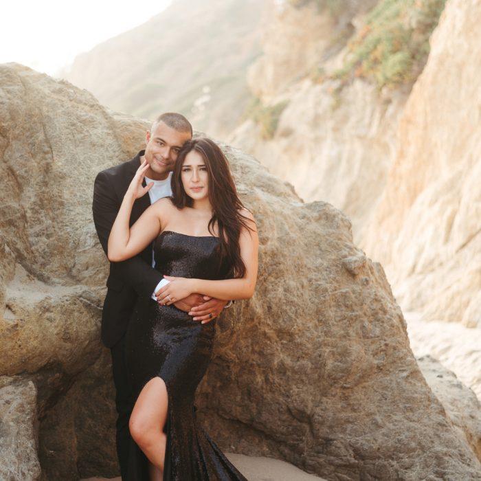 El Matador Beach Engagement Photos | Romantic Sunset | Malibu Wedding Photographer | Southern California